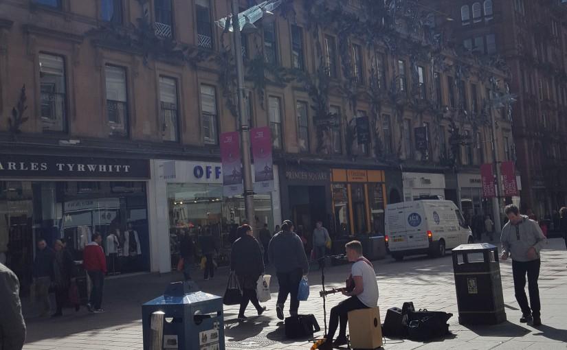 Anreise & Ankunft in Glasgow